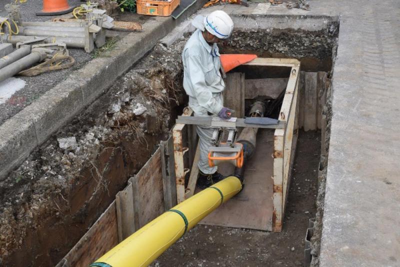 ケイハイ、ガス鋼管更新の新工法...